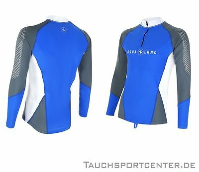 Aqualung Rash Guard BlueMotion Langarm, UV-Schutz Lycra Shirt, UV-Shirt