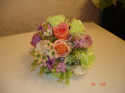 Bridal Bouquet  Silk Pastel Colours Large Size