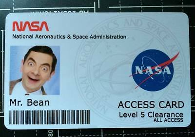 Novelty NASA ID card  With your photo & information - astronaut, space, fake ID
