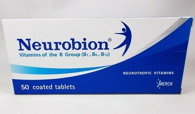 Neurobion Vitamin B Complex B1 B6 B12 Coated Tablets MERCK - Free Shipping