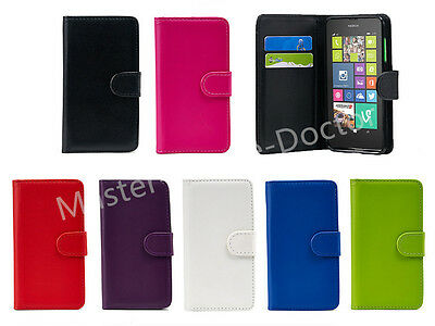 Wallet/Flip Leather ID Case Cover For All Microsoft/Nokia Lumia Phones+Free S/G