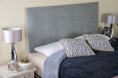 Plain Luxury Headboard Bed Head In Leather, Chenille, Suede, Crushed Velvet
