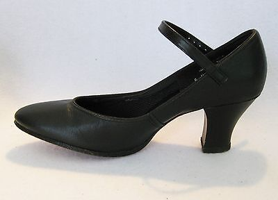CAPEZIO  Black Leather Sole Character Dance Theater Shoes 5 N