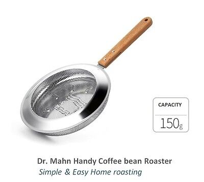 DR MAHN Stainless Handy Home Coffee Roaster 150 g Easy & Simple Home Roasting