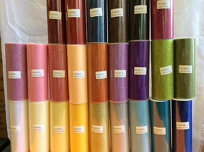 "Tutu Glitter Tulle Roll 6"" x 10 Y *Pick Any 12 colours * Soft Craft Fabric."
