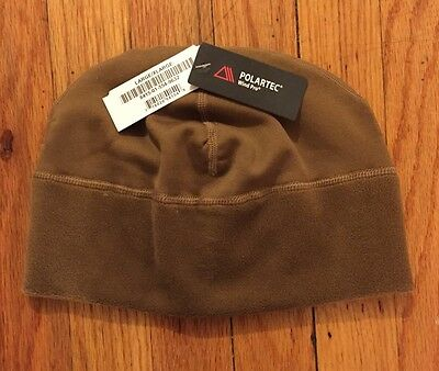 NEW! USMC POLARTEC CAP MICRO FLEECE HARDFACE WIND PRO COYOTE PECKHAM Watch L/XL