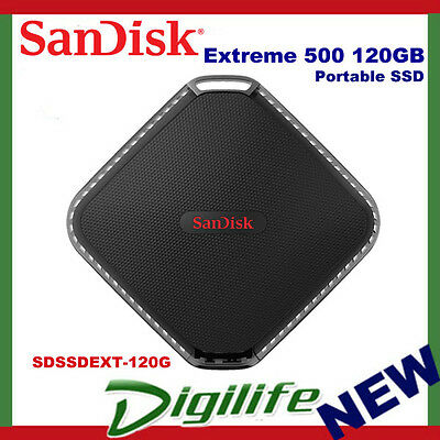 SanDisk 120GB Extreme 500 Portable SSD External Solid State Drive 415MB/s USB3.0