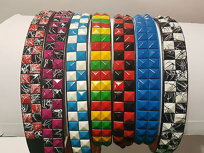 Studded Genuine Leather Belt LUCKY DIP Assorted Colours NEW (Great for markets)