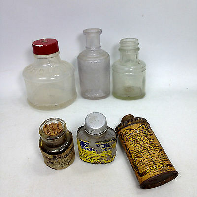 Vintage Lot of  Apothecary Pharmacy BOTTLES