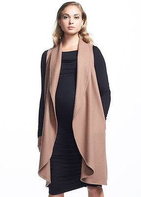 NEW - Soon Maternity - Frost Wool Long Vest in Camel