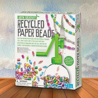 Create Your Own Recycled Paper Beads Kit | 4M art craft set collection pack baub