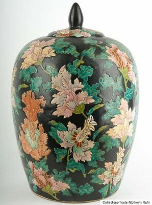 China 20. Jh. Deckelvase - A Chinese Ovoid Porcelain Jar - Vaso Cinese - Chinois