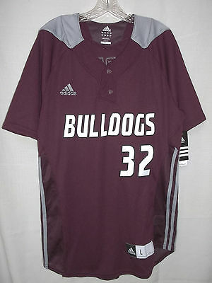 adidas Mississippi State Bulldogs Men's Large Baseball Jersey Shirt Byrnes  NEW