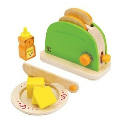 Brand New Hape Pop Up Toaster Wooden Pretend Play Kitchen Role Play Food