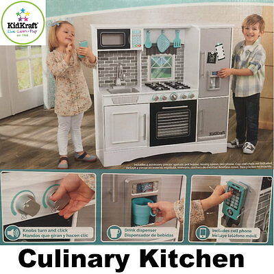 NEW KidKraft Large Culinary Wooden Kitchen Pretend Play Toddler Cooking Toy Set