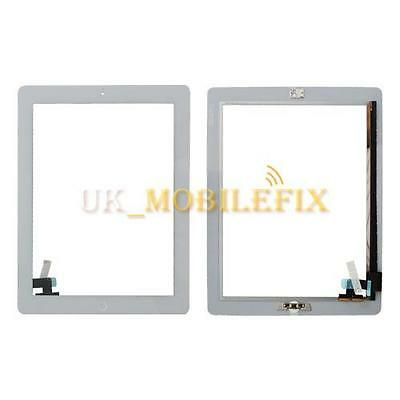 White Touch Screen Digitizer + Home Button + Home Button Flex Cable For iPad 2