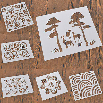Spray Painted Masking Designs Template Stencils Airbrush Decoration Drawing DIY