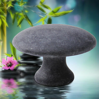 Natural Black Health Mushroom Stone Beauty Massage Tool Full Body Cure Massager