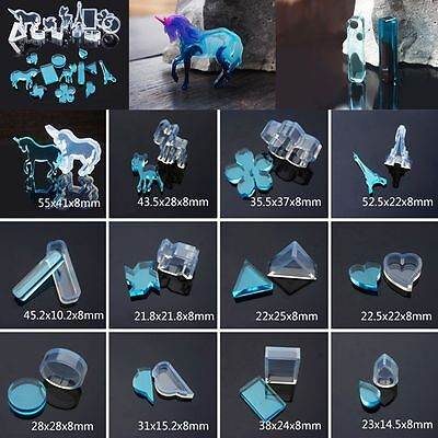 Cute Silicon Mold DIY Jewelry Pendant Ornament Resin Making Mould Tool Geometric