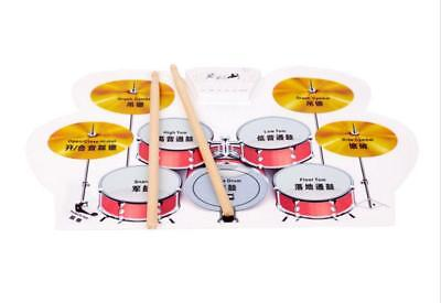 Portable Silicon USB MIDI Foldable Musical Instrument Electronic Roll-up Drum