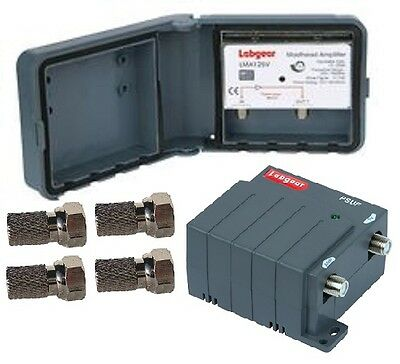 LABGEAR Masthead TV Aerial Signal Amplifier Booster - 1way
