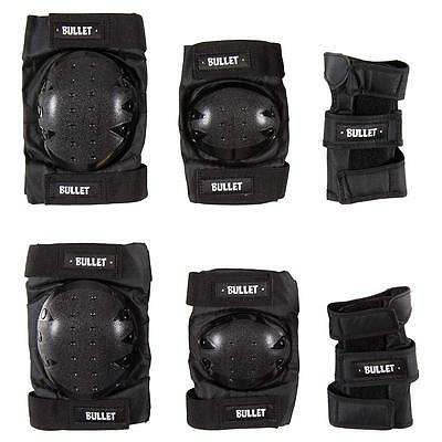 Bullet Combo Standard Triple Pad Set Adult Black One Size