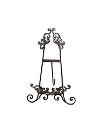 Ornate Iron Metal Picture Easel Table Display Stand Wedding Menu Holder 43cm