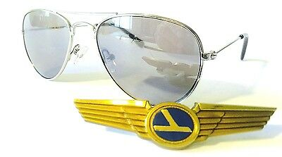 Baby Boys Girls Aviator Sunglasses Ages 0 - 3 Years Silver Frame A1