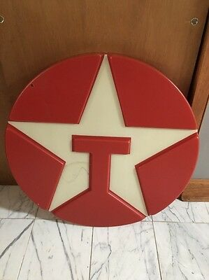 Vintage Texaco Gas Station Motor Oil Advertising Light Up Sign Face