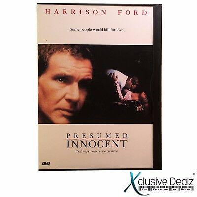 Presumed Innocent by Harrison Ford - rated R drama DVD 1997 (VERY GOOD+) #R89