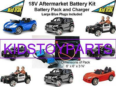 NEW! 18V Conversion Kit UPGRADE for 12V KID TRAX Cars/Trucks (Battery & Charger)