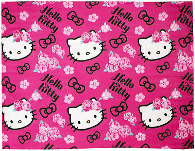 Hello Kitty Sommerwind Rotary Fleece Blanket Soft Kids Character Throw 120x150cm