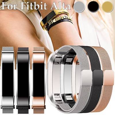 luxury Milanese  Stainless Metal MeshWatch Band Strap Bracelet For Fitbit Alta