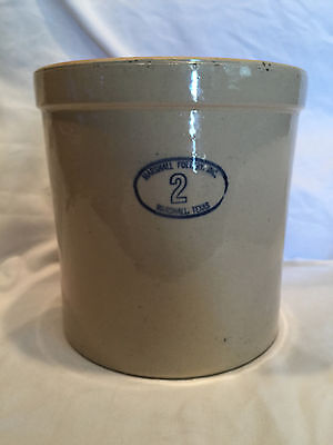 """Collectible Vintage Marshall Pottery Inc No 2 Crock (4 gal. size) Texas 9.5"""" T"""