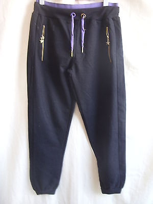 Girls Jogging Bottoms - Tammy, size 152-158cm, black/purple, used - 0876