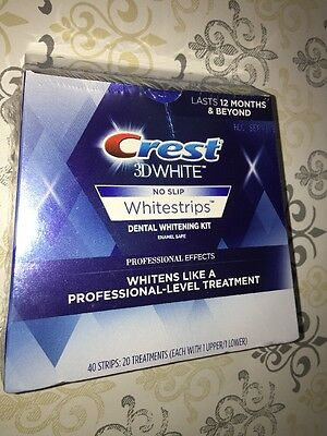 NIB Crest 3D White LUXE Professional Effects 20 Treatments 40 Strips JAN 2018