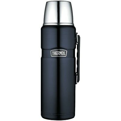 Thermos Stainless King 68 Ounce Vacuum Insulated Beverage Bottle Midnight Blue