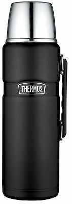 Thermos Stainless King 68 Ounce Vacuum Insulated Beverage Bottle Matte Black
