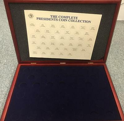 One (1) Wood Forty Slot Display Case Box For Presidential Coins