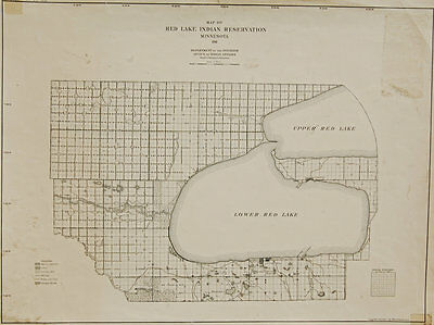 1911 Original map of the Red Lake Indian reservation, Minnesota, Chippewa