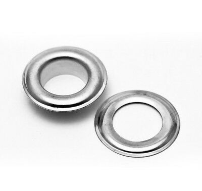 """300 pc. Silver (Size 4) 1/2"""" Grommets & Washers for Hand Pressed Grommet Machine"""