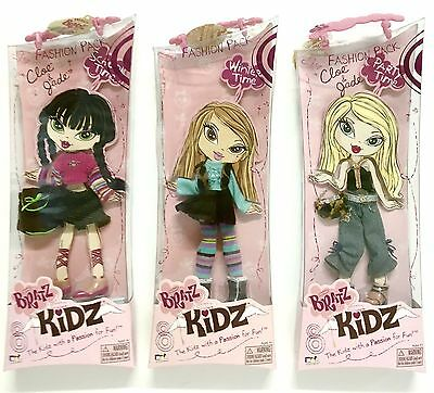 Bratz Kidz Lot Of 3 Fashion Pack Girls Doll Clothes Shoes Accessories NEW