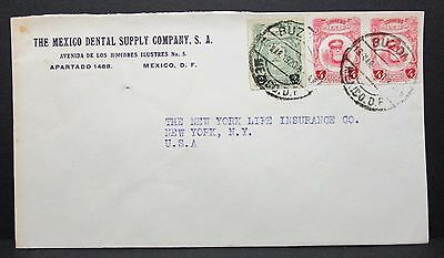 Mexico Dental Supply Company Cover to USA Rate 10c Mexiko Brief (I-4631