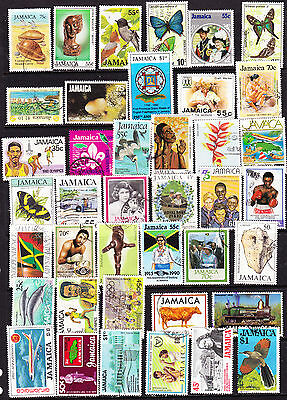 JAMAICA 40 DIFF USED COMMORATIVES YEAR 70s & 80s