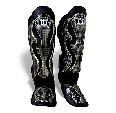 TOP KING Shin Guard Pro Empower Genuine leather Muay Thai MMA Sparring