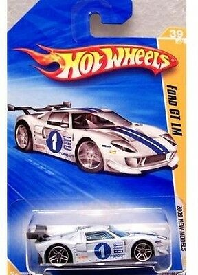 Hot Wheels 2009-039 New Models Ford GT LM WHITE 1:64 Scale. Free Shipping