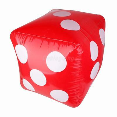Large Inflatable Blow Up Cube Dice Rolling Decorations Pool Beach Toy 60Cm
