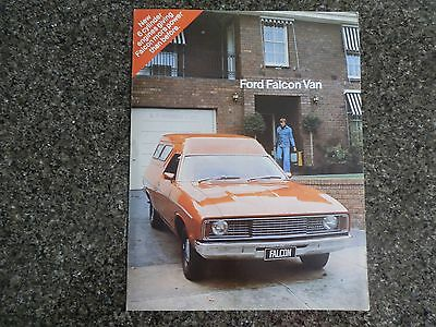 1976 Ford Falcon Panel Van Sales  Brochure.  100% Guarantee.