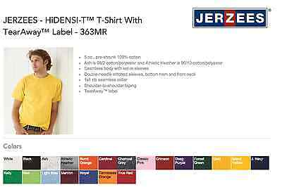 JerZee 363 HiDENSI-T T-SHIRTS BLANK BULK LOT Colors or White S-XL Wholesale