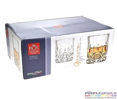 NEW RCR OPERA CRYSTAL LIQUOR GLASSES SET Lead Free Alcohol Scotch Whisky Whiskey